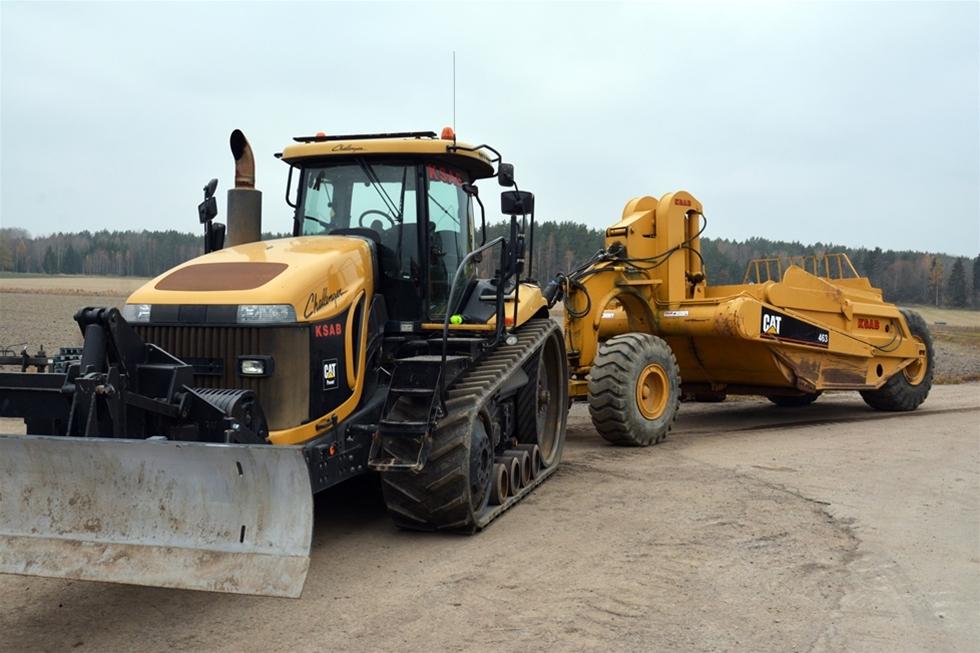 Catapiller mark anläggning gräventreprenad dränering
